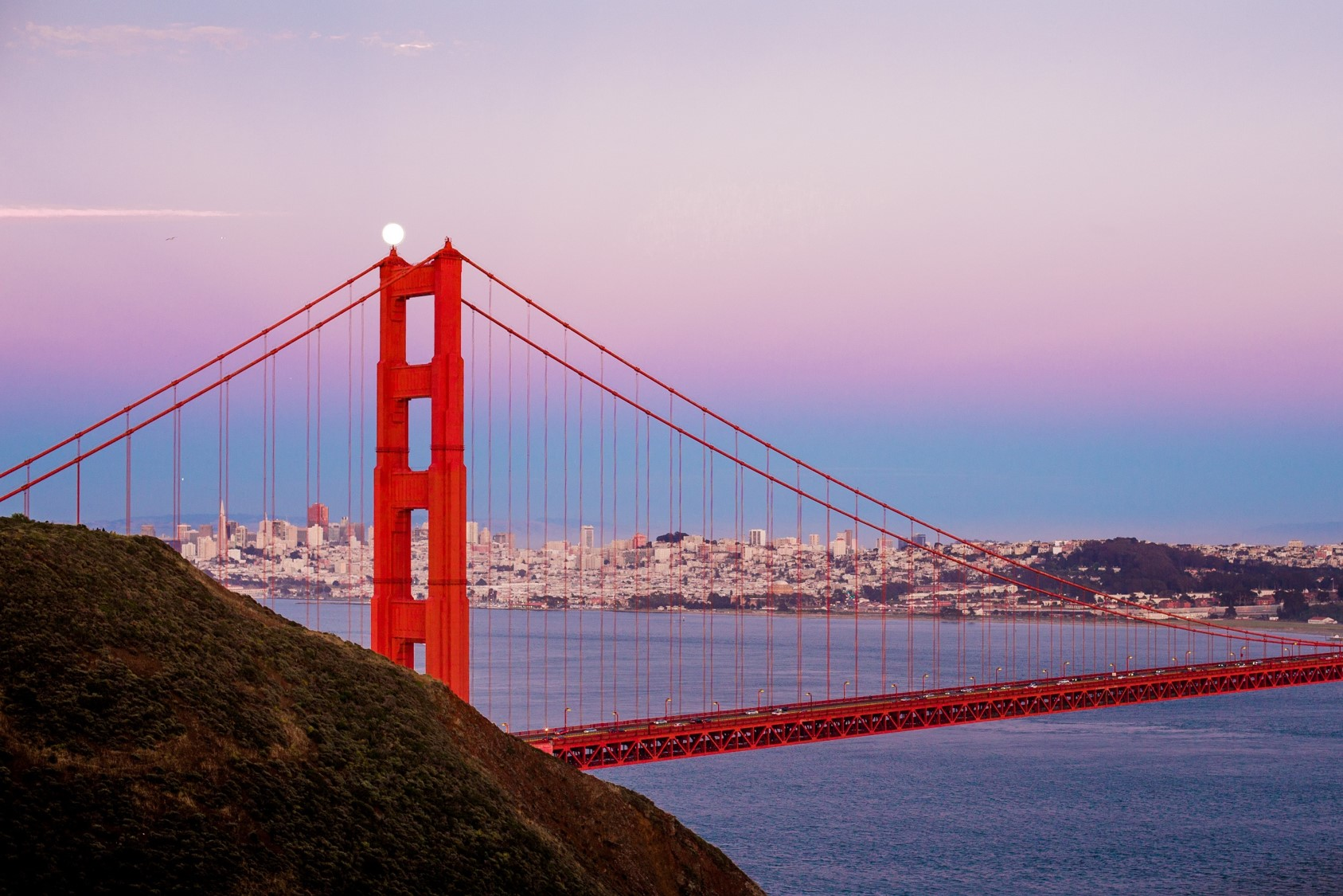 Widok na most Golden Gate w San Francisco